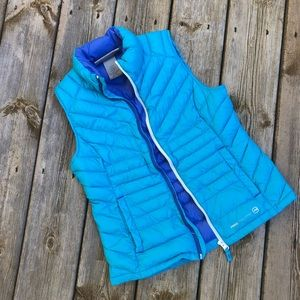 Free Country Vest Blue Down size Large